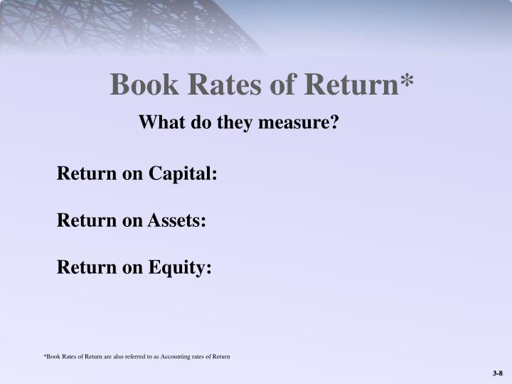 Book Rates of Return*