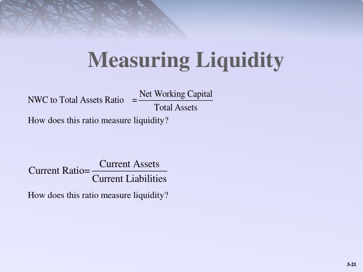 Measuring Liquidity