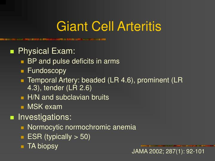 Giant Cell Arteritis