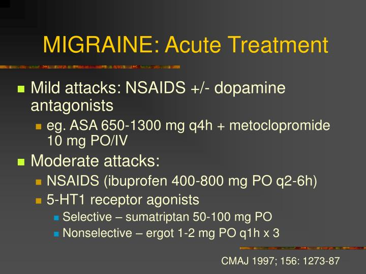 MIGRAINE: Acute Treatment