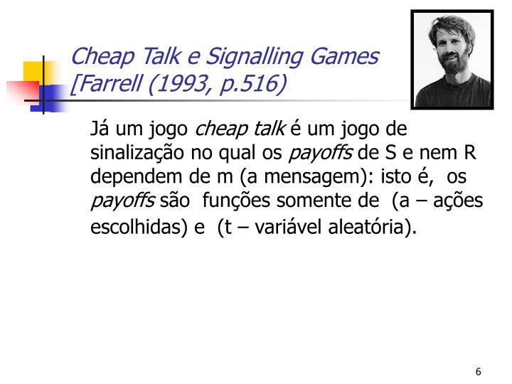 Cheap Talk e Signalling Games