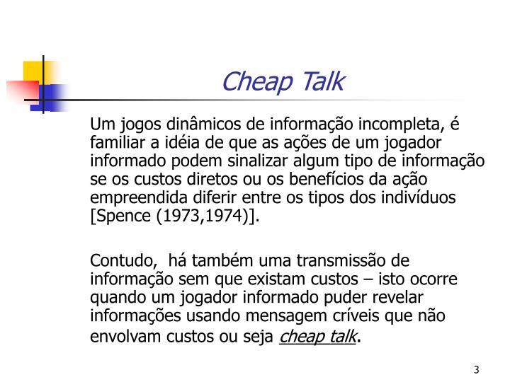 Cheap Talk