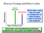 process costing and direct labor1