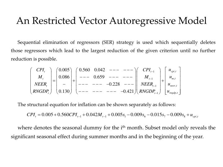 An Restricted Vector Autoregressive Model