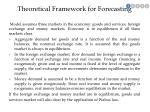 theoretical framework for forecasting