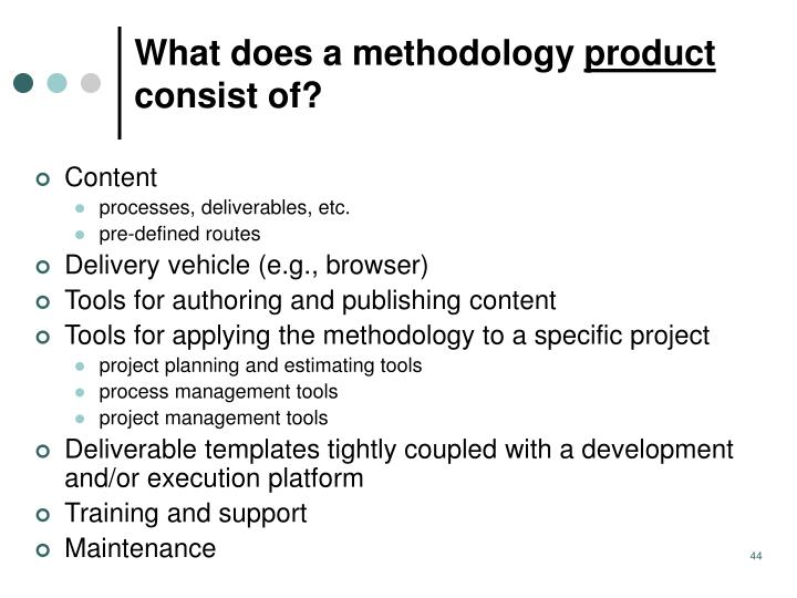 What does a methodology