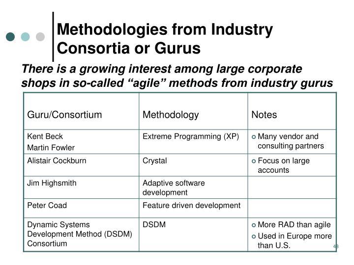 Methodologies from Industry Consortia or Gurus