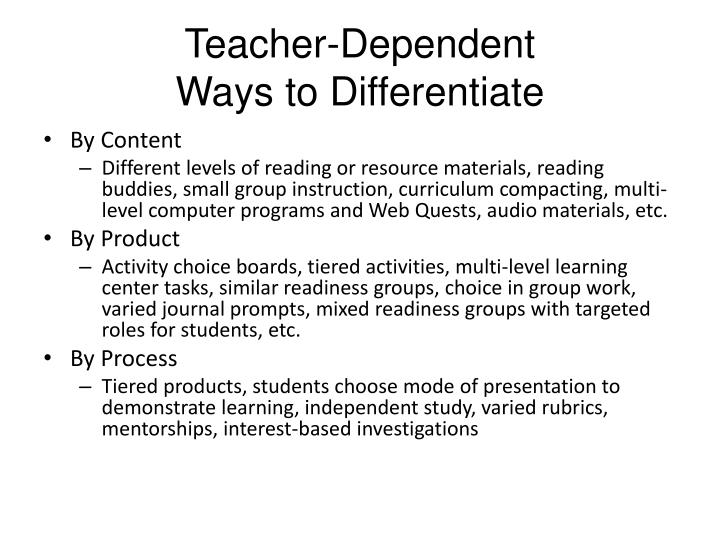 3 ways to differentiate instruction