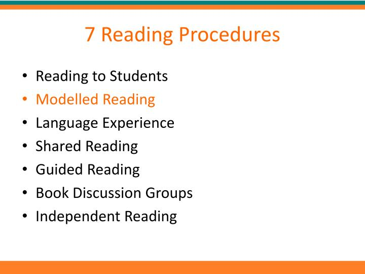 7 Reading Procedures