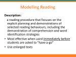 modelling reading1