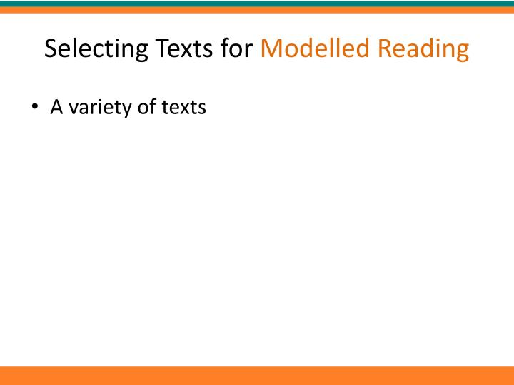 Selecting Texts for