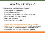 why teach strategies