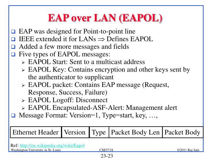 EAP over LAN (EAPOL)
