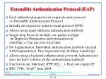 extensible authentication protocol eap