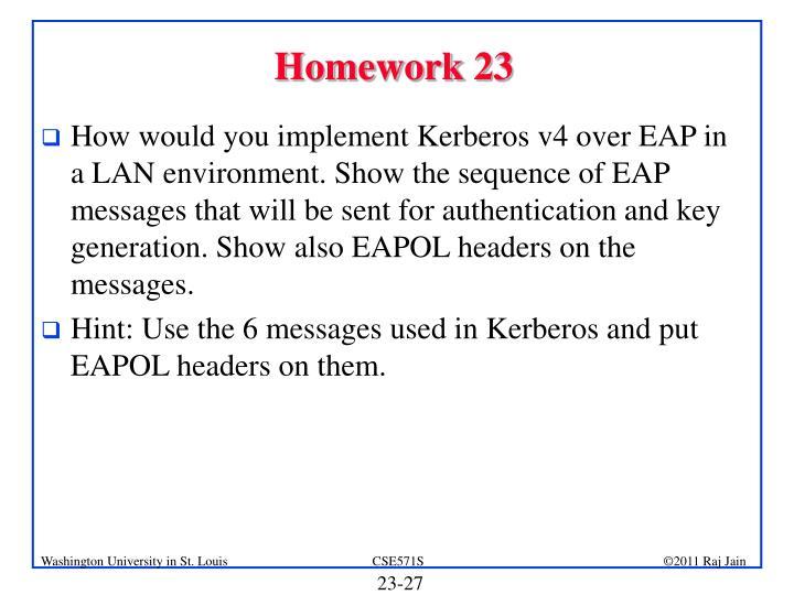 Homework 23