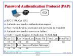 password authentication protocol pap