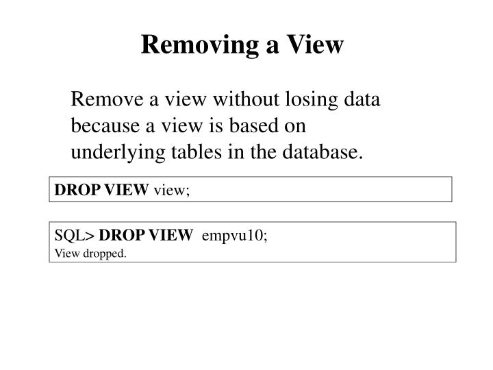 Removing a View