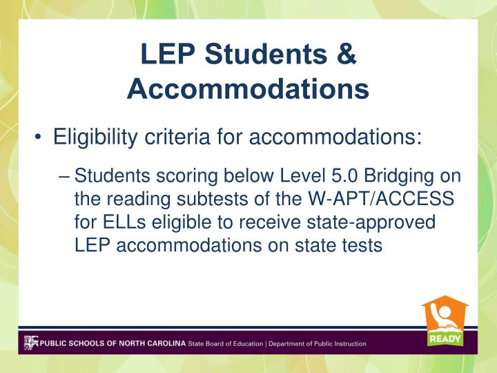 LEP Students & Accommodations