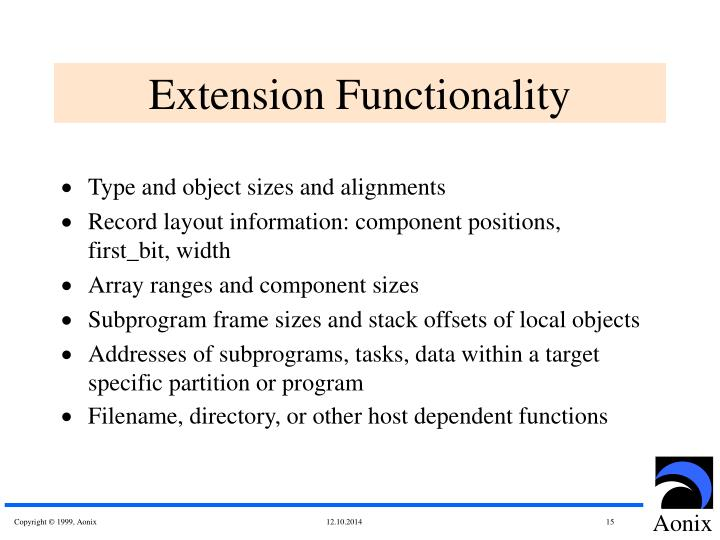 Extension Functionality