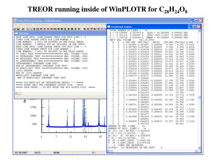 TREOR running inside of WinPLOTR for C