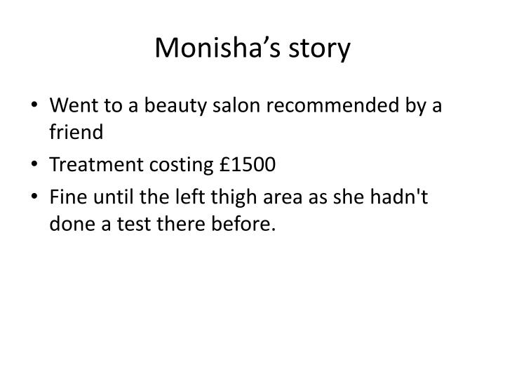 Monisha's story