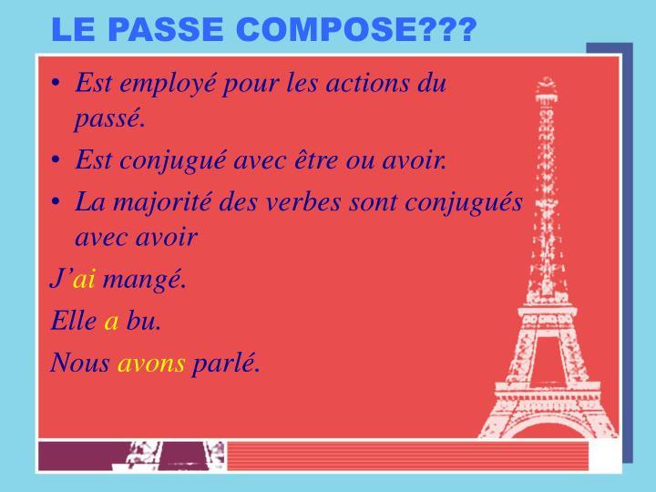 LE PASSE COMPOSE???