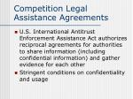 competition legal assistance agreements