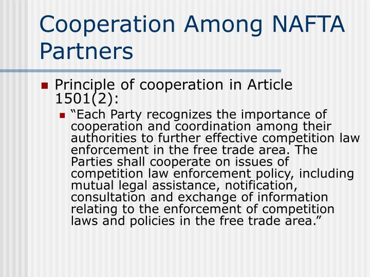 Cooperation Among NAFTA Partners