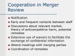 cooperation in merger review