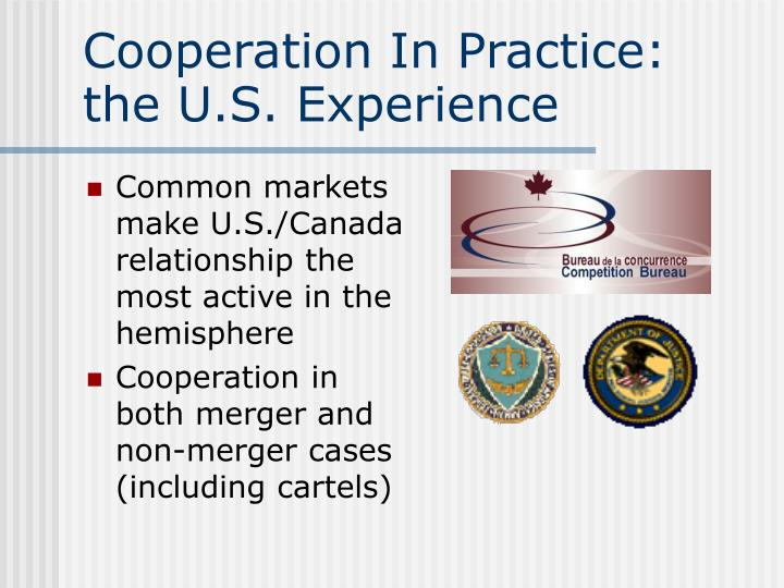 Cooperation In Practice:  the U.S. Experience