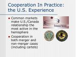 cooperation in practice the u s experience