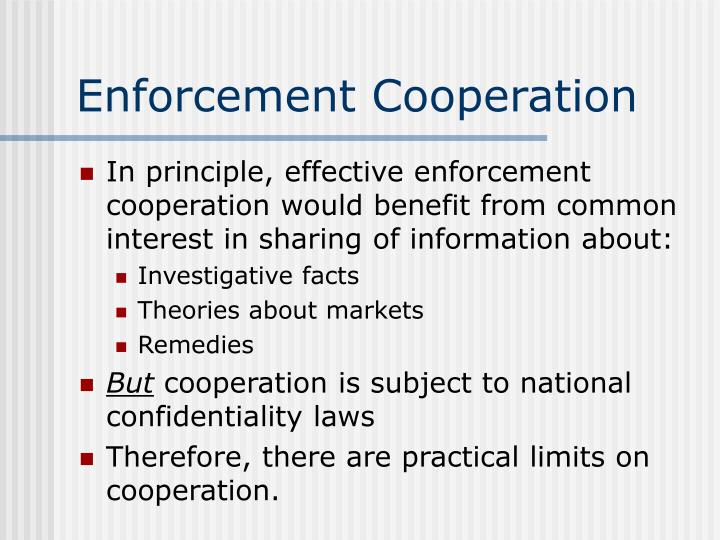 Enforcement Cooperation