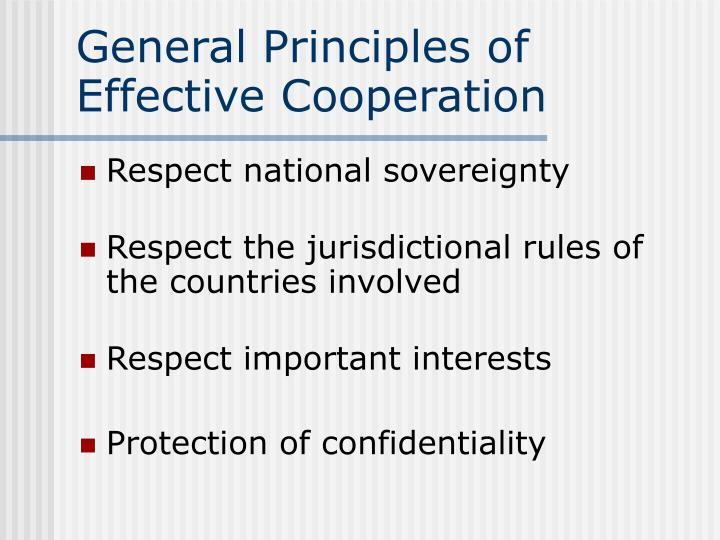 General principles of effective cooperation