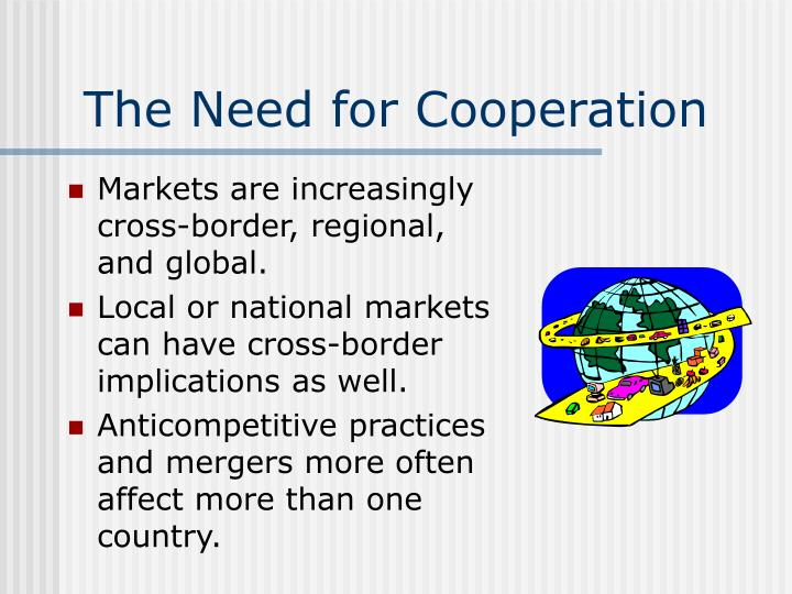 The Need for Cooperation