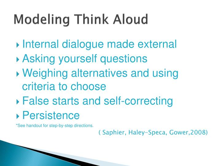 Modeling Think Aloud