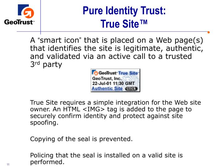 Pure Identity Trust: