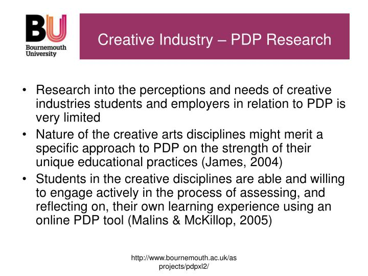 Creative Industry – PDP Research