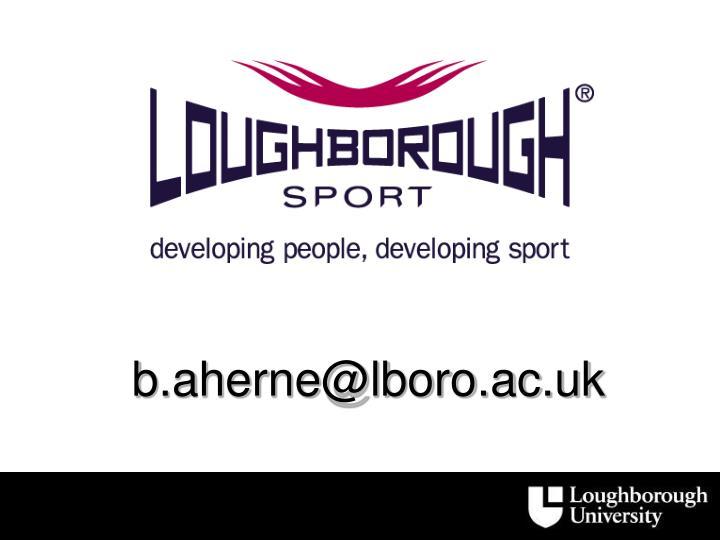 b.aherne@lboro.ac.uk