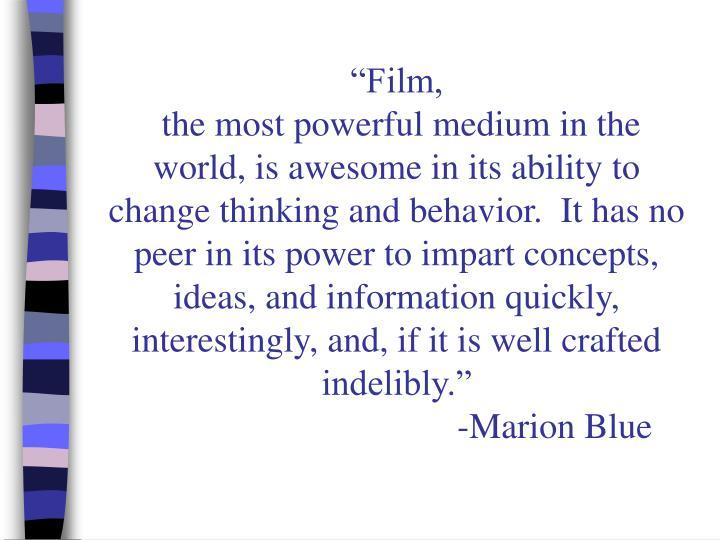 """""""Film,"""