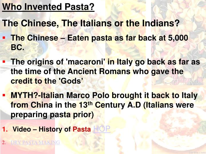 Who Invented Pasta?