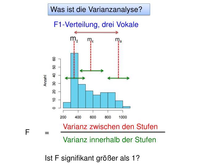 Was ist die Varianzanalyse?