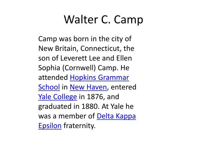 Walter C. Camp