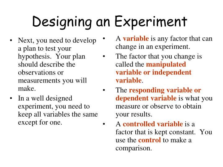 Next, you need to develop a plan to test your hypothesis.  Your plan should describe the observations or measurements you will make.