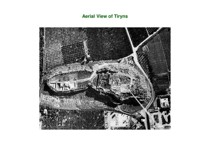 Aerial View of Tiryns