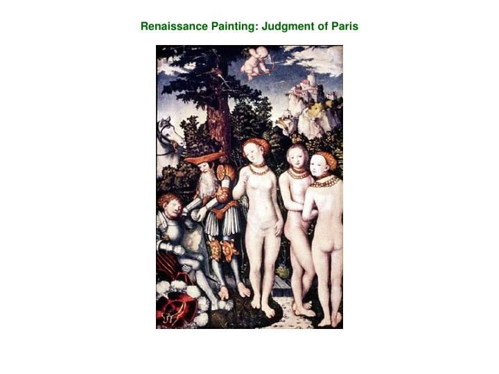 Renaissance Painting: Judgment of Paris