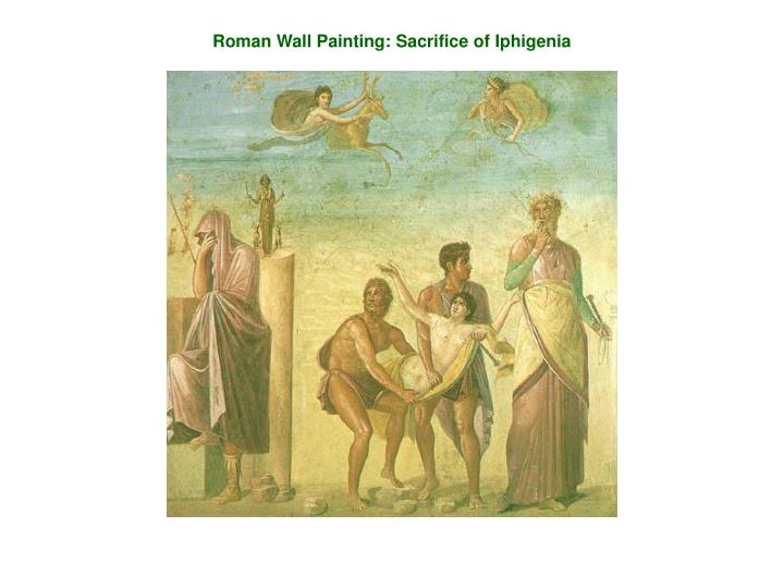 Roman Wall Painting: Sacrifice of Iphigenia