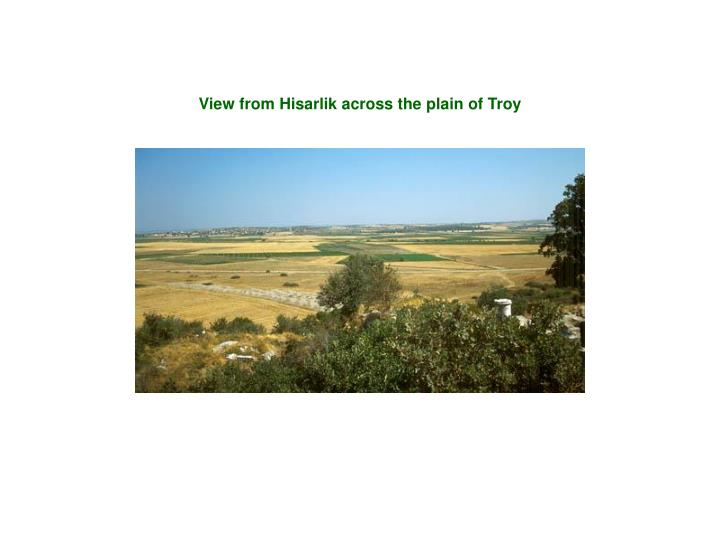 View from Hisarlik across the plain of Troy