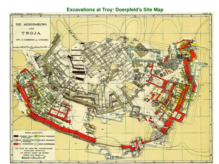 Excavations at Troy: Doerpfeld's Site Map