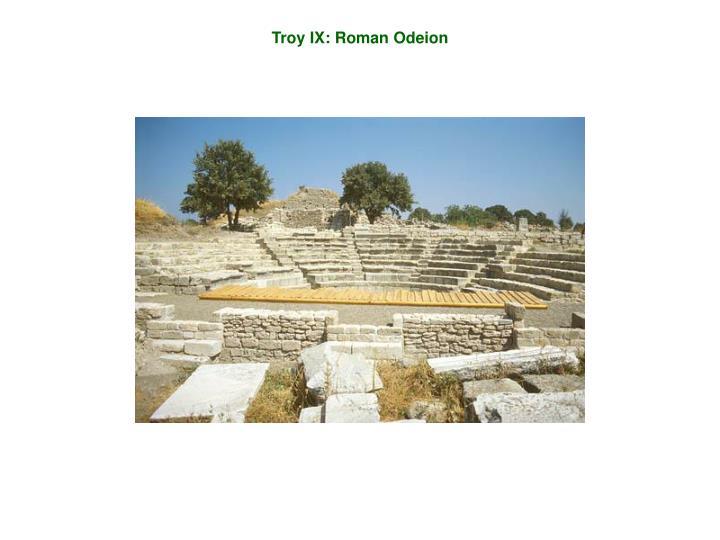 Troy IX: Roman Odeion