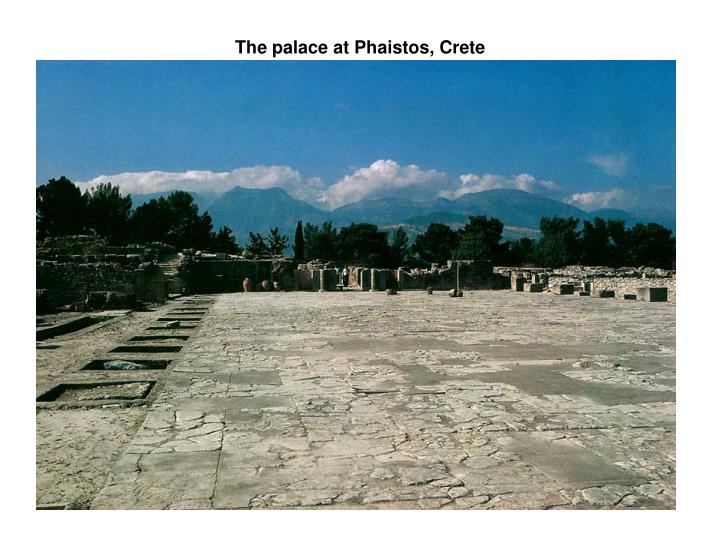 The palace at Phaistos, Crete